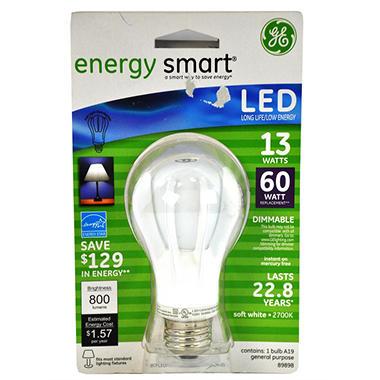 11 WATT LED 60 WATT EQUIV 13 WATT LED