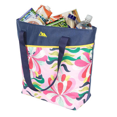 THERMAL FREEZER TOTE NAVY FLORAL
