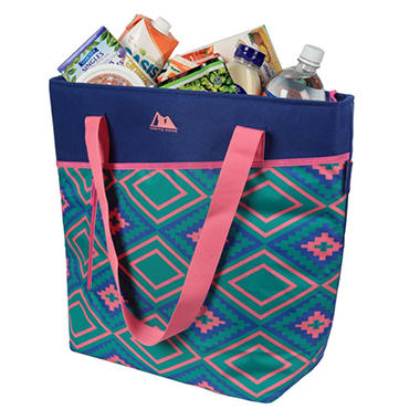 Arctic Zone PRO 56 Cans plus Ice High Performance Thermal Tote - Blue & Blush Ikat