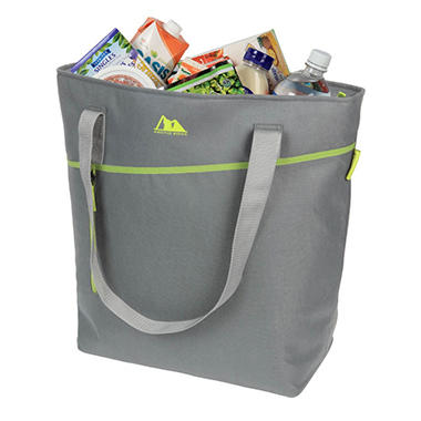 THERMAL FREEZER TOTE CHARCOAL/LIME