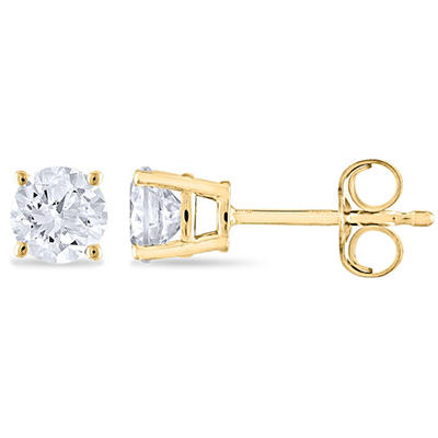 0.72 ct. t.w. Round Diamond Stud Earrings in 14k Yellow Gold (H-I, SI2)
