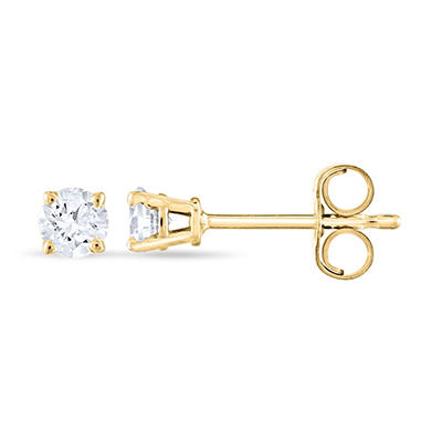 0.23 ct. t.w. Round Diamond Stud Earrings in 14k Yellow Gold (H-I, SI2)