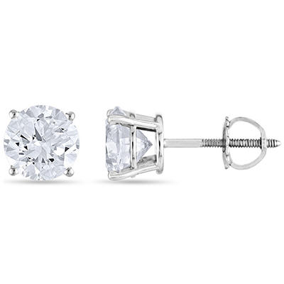 1.45 ct. t.w. Round Diamond Stud Earrings in 14k White Gold (H-I, SI2)