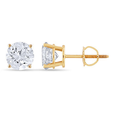 1.95 ct. t.w. Round Diamond Stud Earrings in 14k Yellow Gold (I, I1)