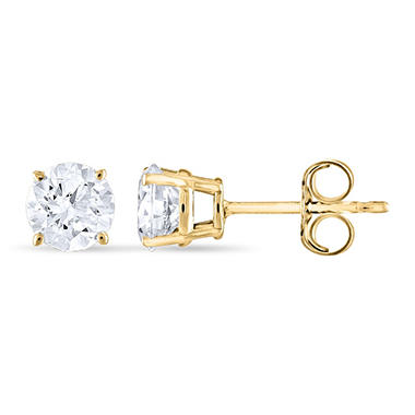 0.96 ct. t.w. Round Diamond Stud Earrings in 14k Yellow Gold (I, I1)