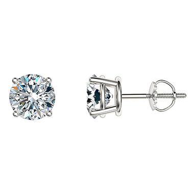 1.95 ct. t.w. Round Diamond Stud Earrings in 14k White Gold (I, I1)