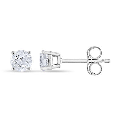 0.47 ct. t.w. Round Diamond Stud Earrings in 14k White Gold (I, I1)