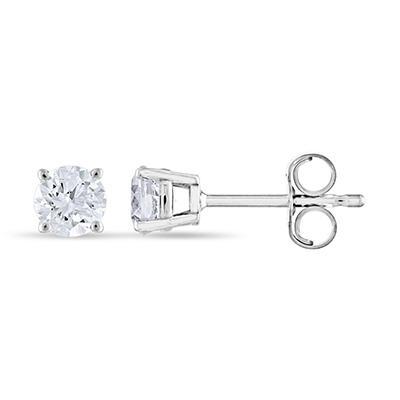 0.47 ct. t.w. Round Diamond Stud Earrings in 14k White Gold (I, I1)