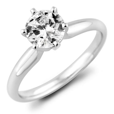 1.95 ct. Round Diamond Solitaire Ring in 18k White Gold with Platinum Head (H, VS2)