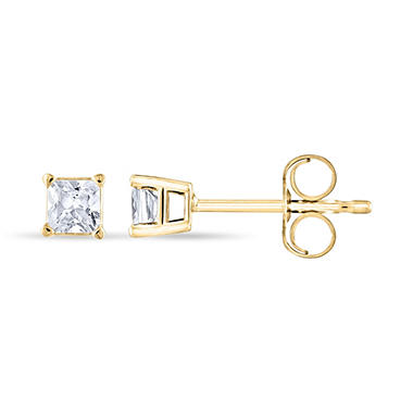 0.23 ct. t.w. Princess Diamond Stud Earrings in 14k Yellow Gold (H-I, SI2)