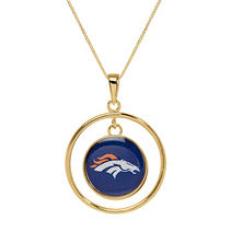 Denver Broncos Double Drop Gold Necklace