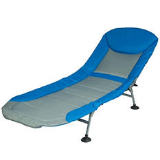 Folding Cot and Lounge - Blue