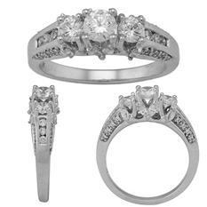 3.00 CT. T.W. Diamond 14 Karat White Gold Ring (I, I1, IGI Appraisal Value: $6,740.00)