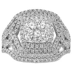 1.50 CT. T.W. Diamond 14 Karat White Gold Ring (I, I1, IGI Appraisal Value: $1,880.00)