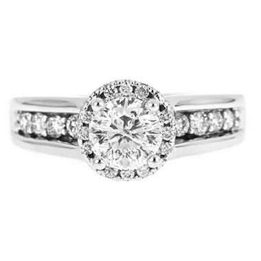1.50 ct. t.w. Round Cut Framed Diamond Ring in 14k White Gold (H-I, I1)