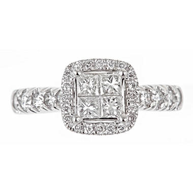 1.00 ct. t.w. Regal Princess Diamond Bridal Ring (I, SI2)