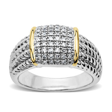 0.25 ct. t.w. Diamond Ring in Sterling Silver and 14k Yellow Gold (H-I, I1)