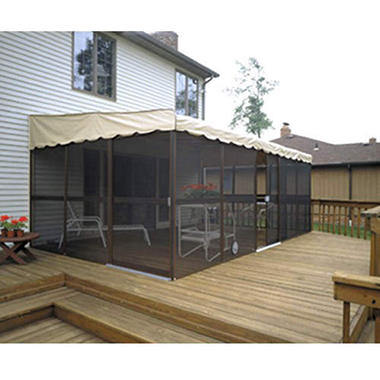 "PatioMate� Screen Enclosure- 11' 6"" x 19' 3"" - Almond"