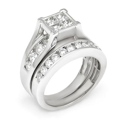 2.00 ct. t.w. Diamond Bridal Set in 14K Gold (I, I1)