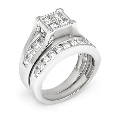 2.00 ct. t.w. Diamond Bridal Set in 14K Gold (I, I1)