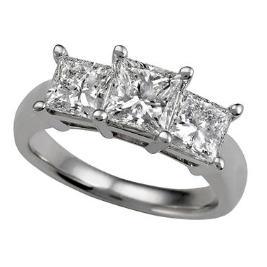 2.35 ct. t.w. Three-Stone Diamond Ring (I, I1)