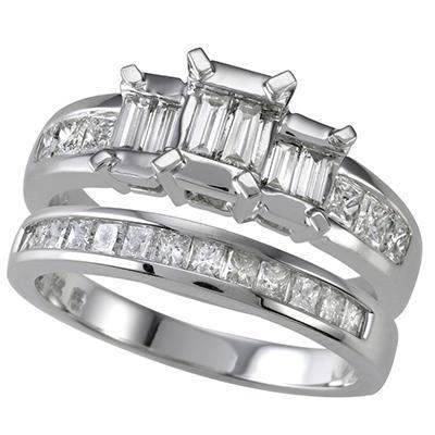 .95 ct. t.w. Diamond Bridal Ring Set (I, I1)