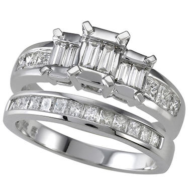 .95 ct. t.w. Diamond Bridal Ring Set (I, I1)