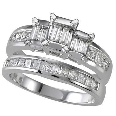 .95 ct. t.w. Diamond Engagement Ring Set (I, I1)