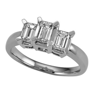.95 ct. t.w. Three-Stone Emerald Cut Diamond Ring (I, SI2)