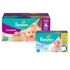 Pampers Cruisers Diaper and Wipe Bundle (Choose Your Size)
