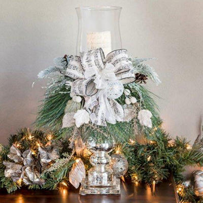 Holiday Candlestick Centerpiece, Winter Lux
