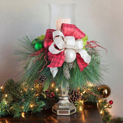 Holiday Candlestick Centerpiece, Timeless Traditions