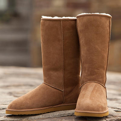 Cozie Steps Tall Classic 100% Genuine Sheepskin Boot - (Assorted Colors)