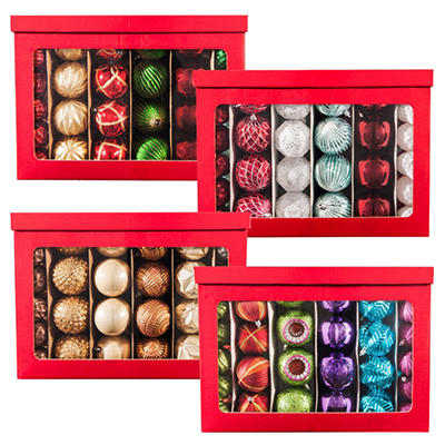 Shatterproof Ornament Set, Choose Your Style (100 ct.)