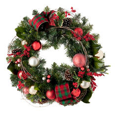 "Decorated Christmas Wreath, Timeless Tradition (32"")"