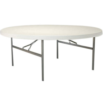 "Lifetime 72"" Round Folding Table, White Granite (12 pk.)"
