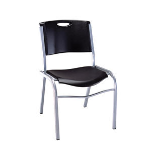 Lifetime Stacking Chair, Black, Select Type