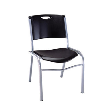 OFFLINE Lifetime Stacking Chair - Black - 14 pack