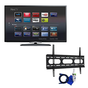 "Philips 55"" Class 1080p LED Smart HDTV and Fixed Tilt Mount 37"" to 70"" Bundle"