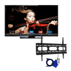 "Magnavox 55"" Class 1080p LED Smart HDTV and Fixed Tilt Mount 37"" to 70"" Bundle"
