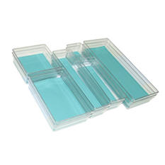 12-Piece Drawer Organizer Kit (Assorted Colors)