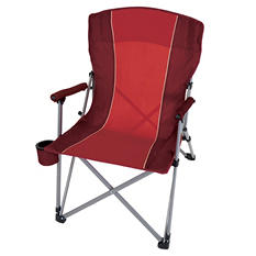 CampSmart® Hard Arm Chair - Maroon and Red