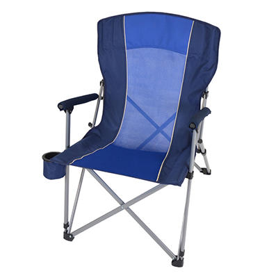 CampSmart® Hard Arm Chair - Blue and Dark Blue
