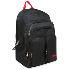 High Trails19 Inch Multiple Pockets Backpack Black - 24 Pack