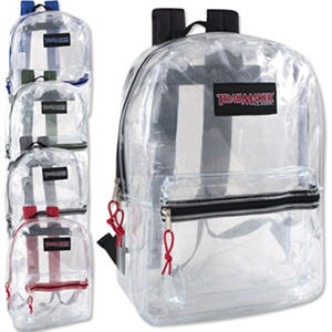 Trailmaker 17 Inch Clear Backpack - 24 Pack