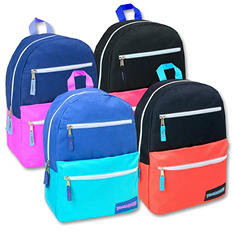 Trailmaker 17 Inch 3 Pocket Backpack - Girl Colors - 24 Pack