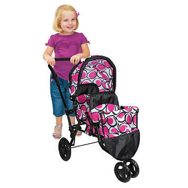 Twin Jogger Stroller-Pink