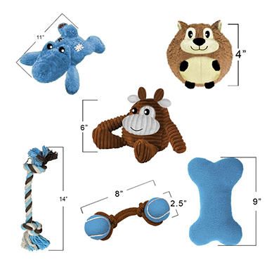 Think!dog Dog House Dog Toys - Blue - 6 pk.