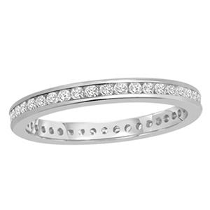 .50 CT. TW. Round Cut Channel Set Eternity band - 14K White or Yellow Gold