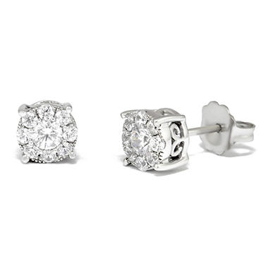 0.50 ct. t.w. Unity Diamond Stud Earrings in 14k White Gold (I, I1)